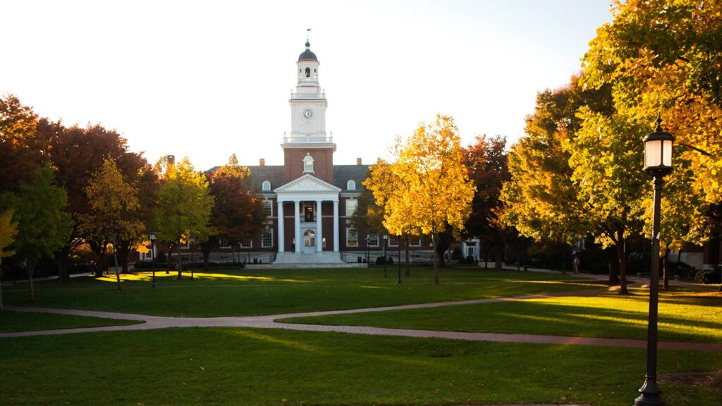 Johns Hopkins University in the daylight