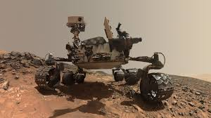 A photo of the Curiosity rover.